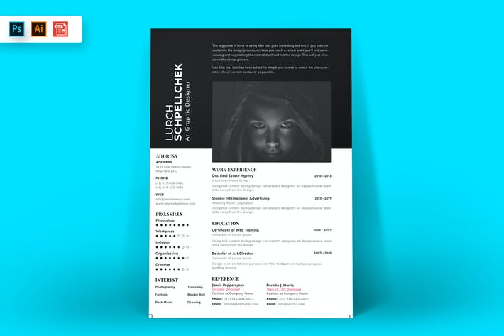 Thumbnail for Resume CV Template-91