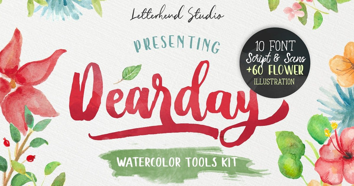 Download DearDay Watercolor Toolbox by letterhend