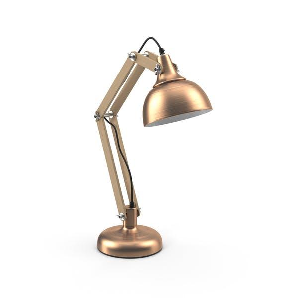Медная настольная лампа