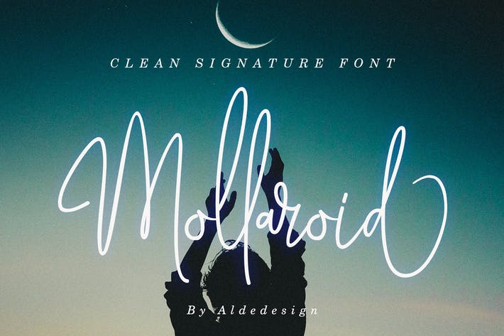 Thumbnail for Mollaroid | Signature Font
