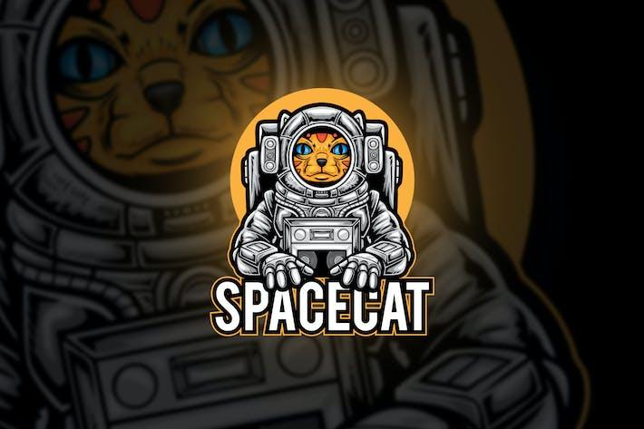 Spacecat Astronout Esport Mascot Logo