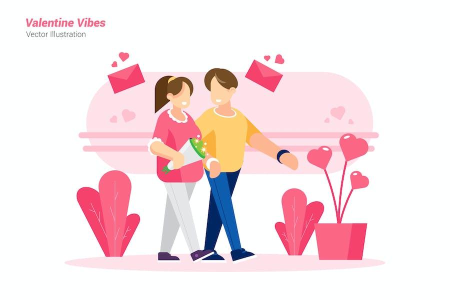 Valentine Vibes - Vektor-Illustration