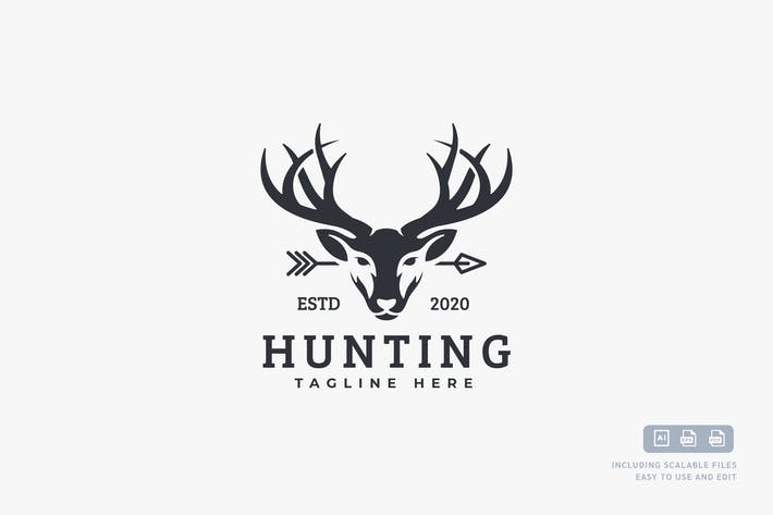 Thumbnail for Deer Hunting - Logo design template