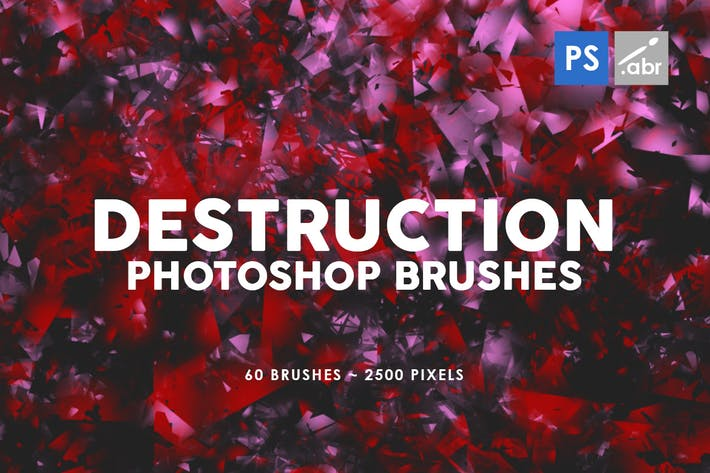 Cover Image For 60 Destruction Photoshop Stamp Brushes