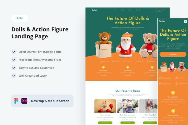 Dollet - Dolls & Action Figure Landing Page