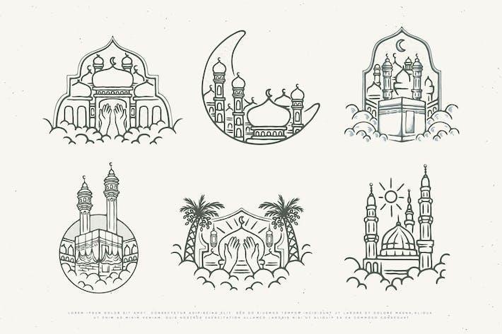 Vintage-Illustration islamisches Design
