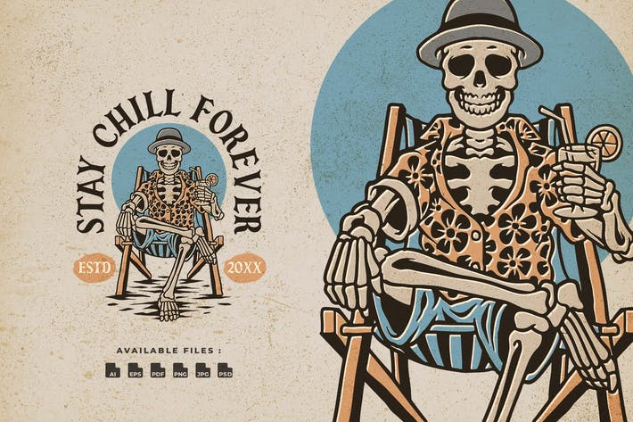 Thumbnail for Chill Skull Handrawn Logo