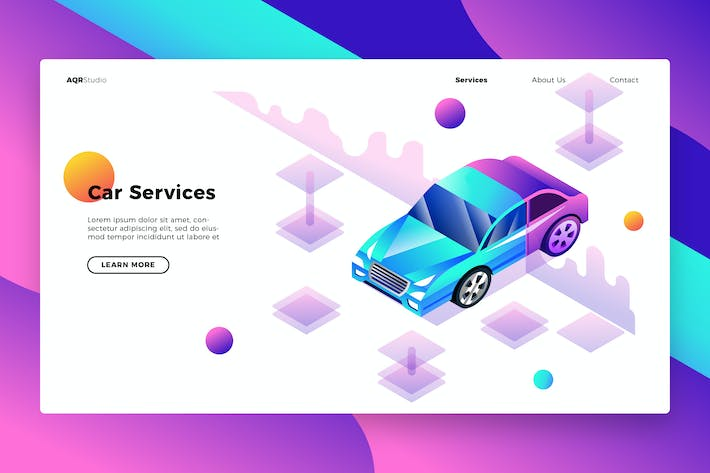 Thumbnail for Car Service - Banner & Landing Page