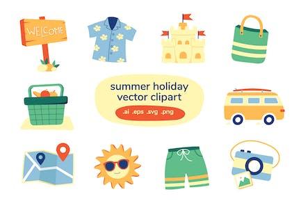 Summer Holiday Vector Clip Art