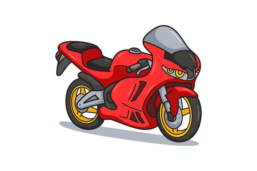 Sport Bike Cartoon