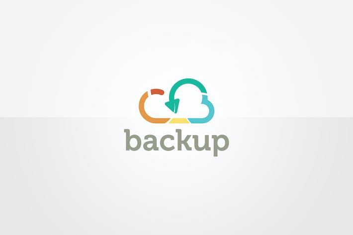 Thumbnail for Cloud Backup Logo Template