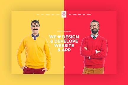Creative Freelancer PSD Template
