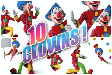 10 fun cartoon Clowns !