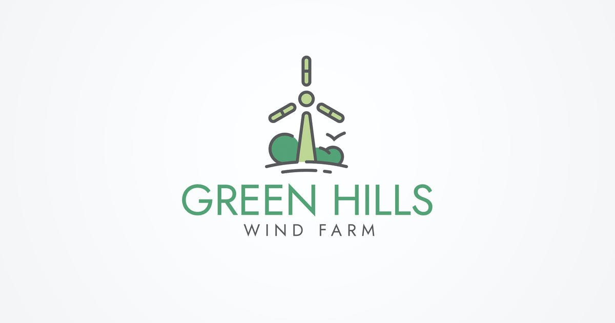Download Wind Farm Logo Template by floringheorghe