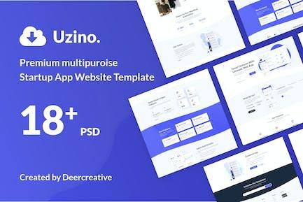 Uzino   Premium Startup-App PSD-Vorlage