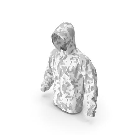 Белый капюшон военной куртки