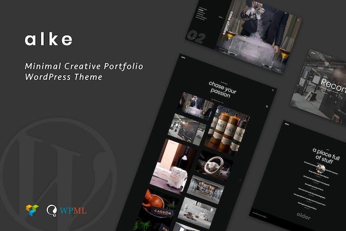 Cover Image For Alke | Minimal Creative Portfolio WordPress Theme