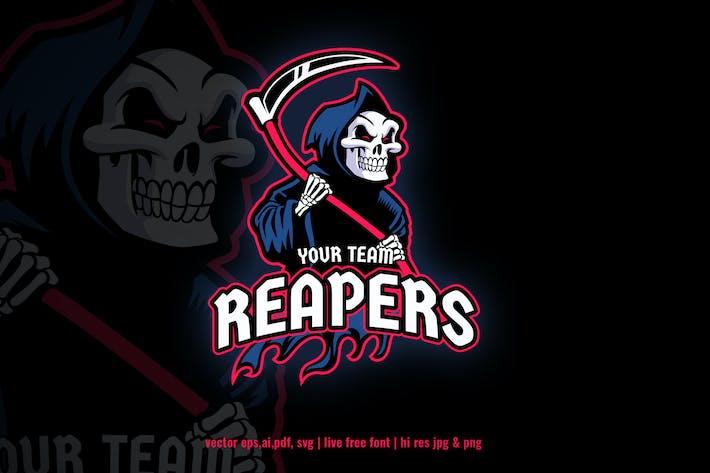 Thumbnail for grim reaper cartoon sport and e-sport logo
