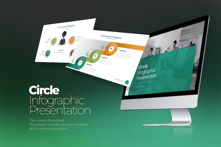 Thumbnail for Circle Infographic PPTX