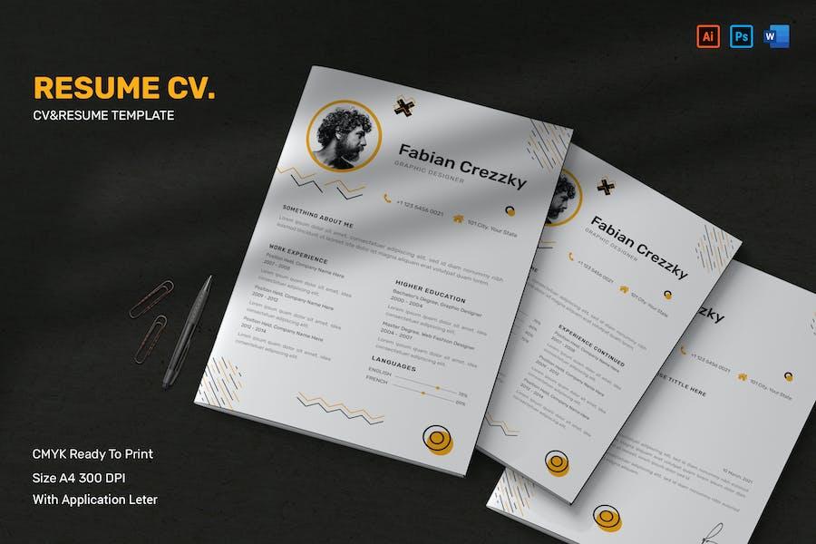 Modern CV Resume & Letter