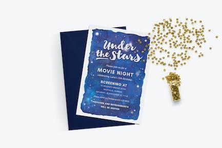 Under the Stars - Movie Night Invite