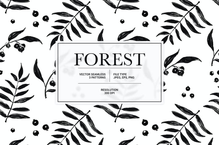 Forest Vector Pattern