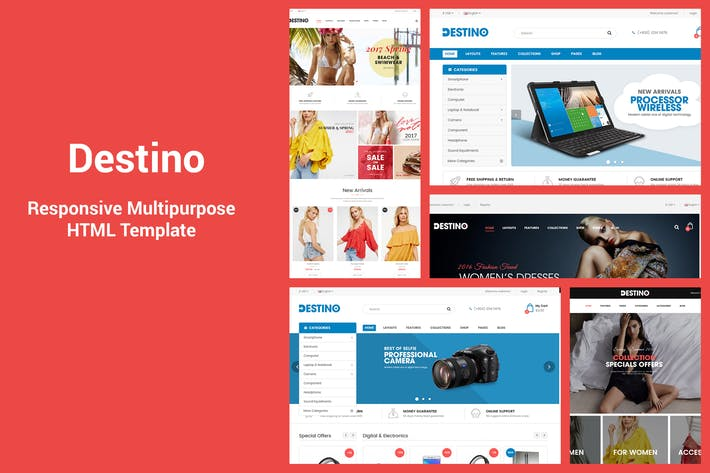 Thumbnail for Destino - Responsive & MultiPurpose HTML5 Template