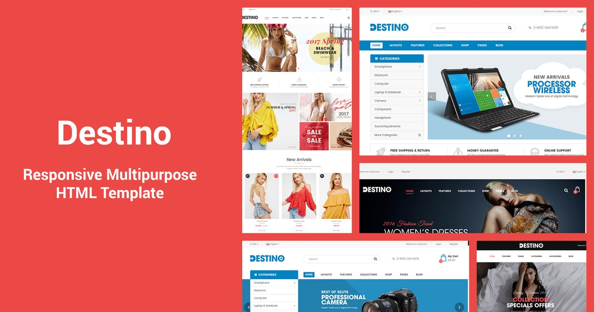 Download Destino - Responsive & MultiPurpose HTML5 Template by magentech