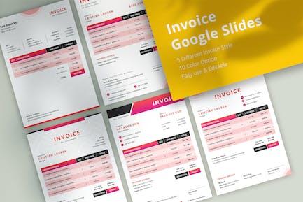 Professional Invoice Google Slides Template
