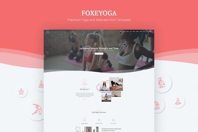 Foxeyoga - Yoga and Wellness Html Template
