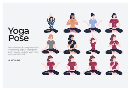 Pose de yoga - ilustración