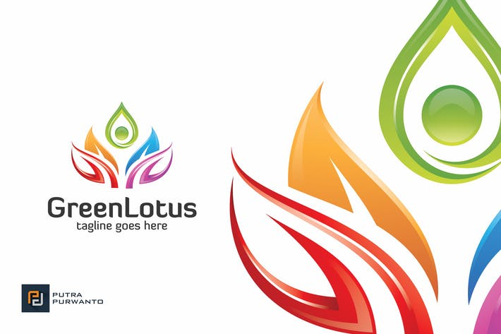 Thumbnail for Green Lotus - Logo Template