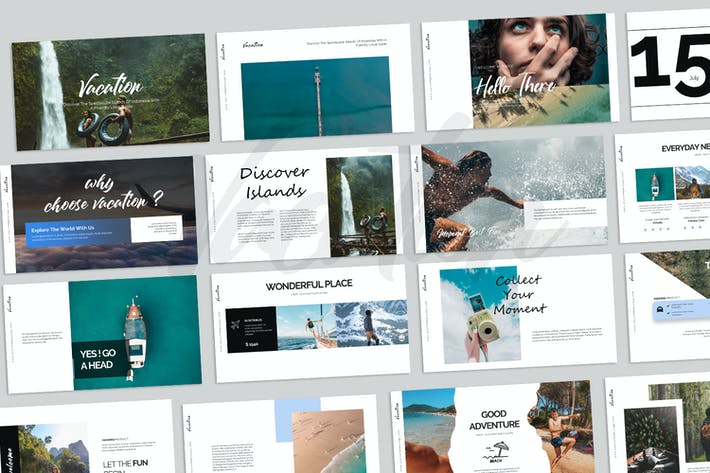 Thumbnail for Vacation Keynote Templates