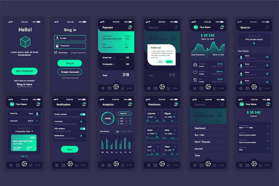 Blockchain Mobile App UI Kit