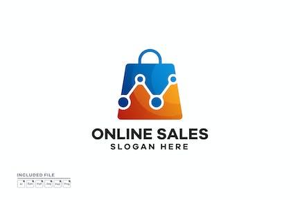 Online Sales Gradient Logo Designs