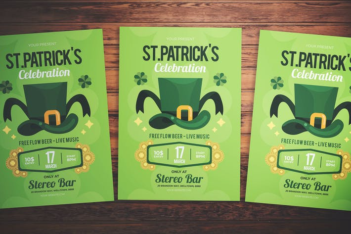 Cover Image For St. Patrick's Party Flyer