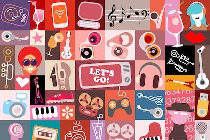 Entertainment Art Collage