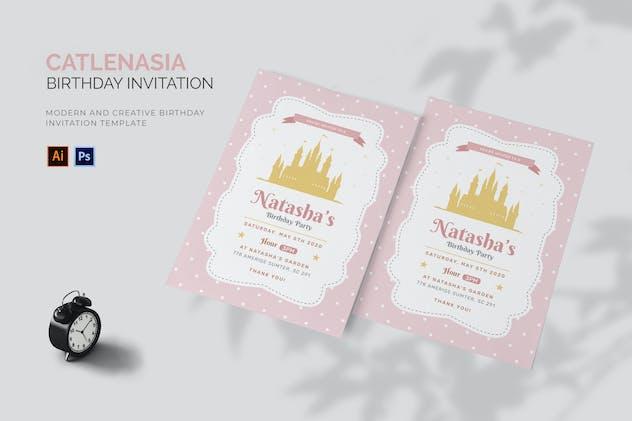 Catlenasia - Birthday Invitation
