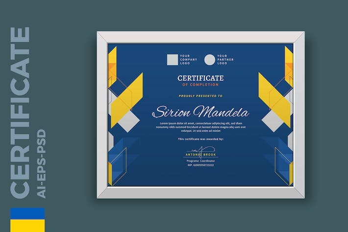 Thumbnail for Blue Certificate / Diploma Template Pro