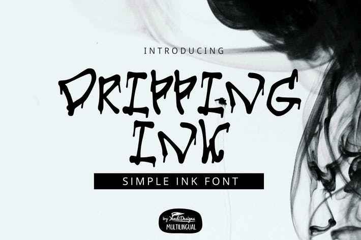 Dripping Ink Font