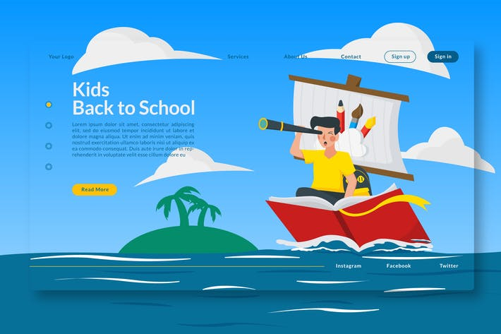 Thumbnail for Kids Back to School  - Landing-Page GR
