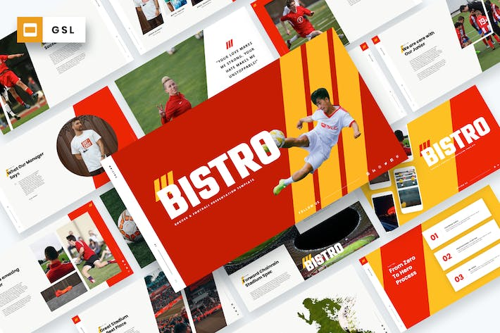 Cover Image For Bistro - Soccer & Football Google Slides Template