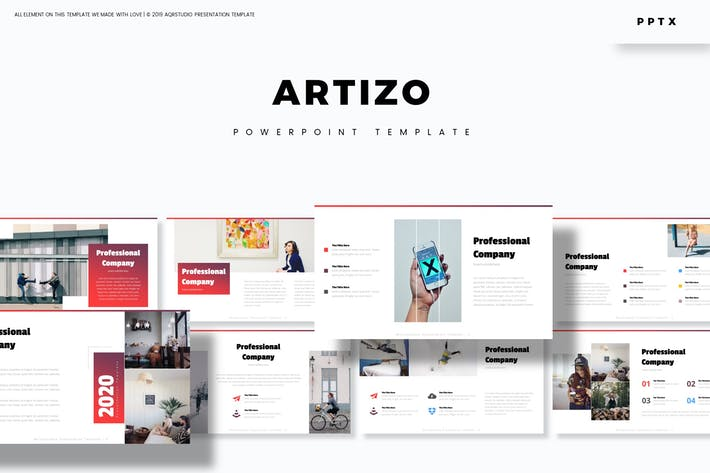 Cover Image For Artizo - Powerpoint Template