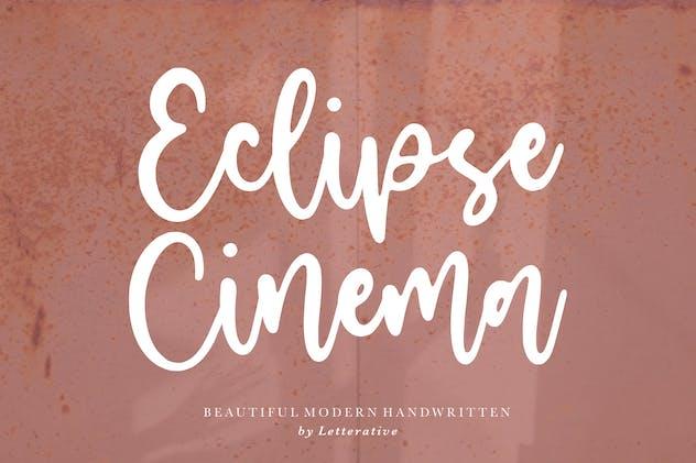 Eclipse Cinema Script Font YH