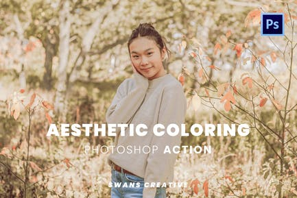 Aesthetic Coloring Photoshop Action