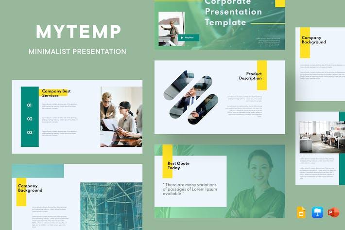 Thumbnail for Mytemp - Minimal & Corporate Presentation