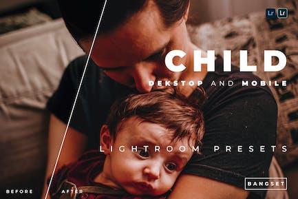 Child Desktop and Mobile Lightroom Preset
