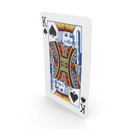 Spielkarten Pik-König