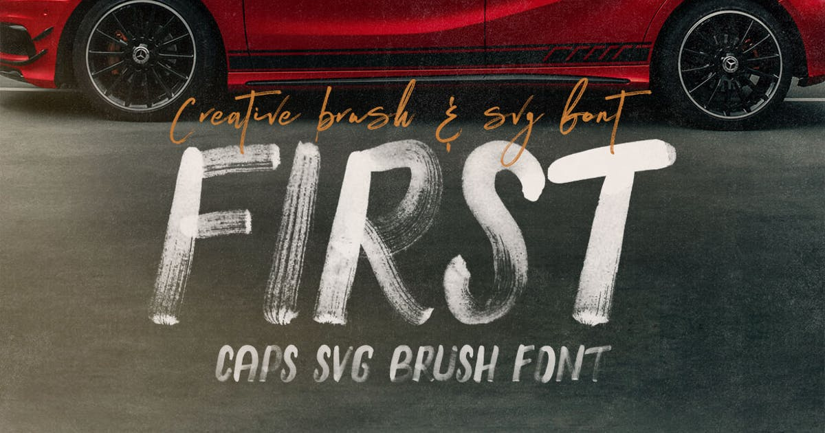 Download First Brush & SVG Font by cruzine