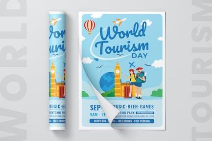 World Tourism Day Flyer Vorlage